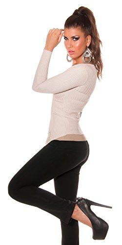 KouCla - Pull - Uni - Femme gris gris 38 Beige