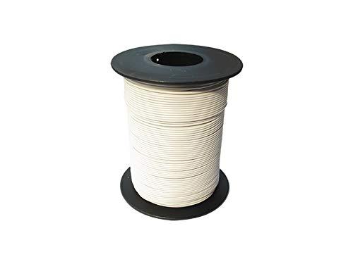 100 m Rolle Kupferlitze 0,14 qmm weiß 18x0,1