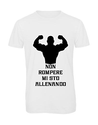 T-shirt uomo Non rompere mi sto allenando, S