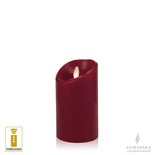 Luminara–Vela de cera con led (8x 13cm Color Burdeos fernbedienbar lisa Acción