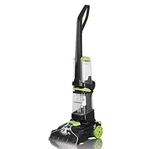 CLEANmaxx Bodenreinger für Hartböden und Teppiche | Waschsauger inkl. Shampoo, Reinigungssystem mit Vibrations- und Seitenbürsten | 800 Watt [Teppichreiniger Pro, schwarz]