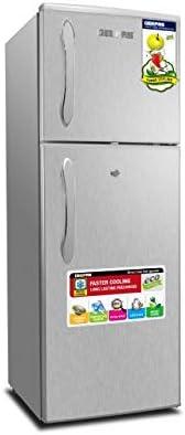 Geepas Freezer on Top Refrigerator 132 Litres, Silver - GRF1857WPN