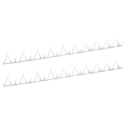vidaXL 2X Zackenleiste Übersteigschutz Metall Spitzen Sicherheit Tor Zaun Mauerspitzen Zaunspitzen Objektschutz Abwehrstreifen Stahl 1m