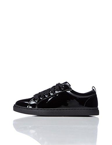 REDWAGON Mädchen Sneaker in Lack-Optik, Schwarz (Black Patent), 32 EU (Mädchen-patent Schuhe)
