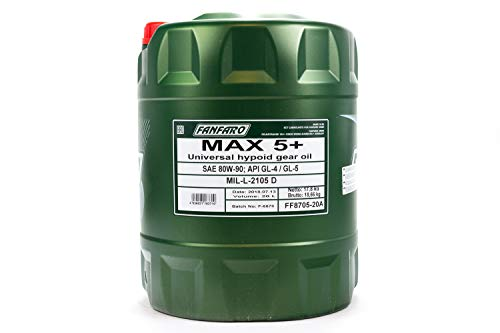 Fanfaro Max 5+ 80W-90 GL-4/GL-5 Olio Ingranaggi 20L