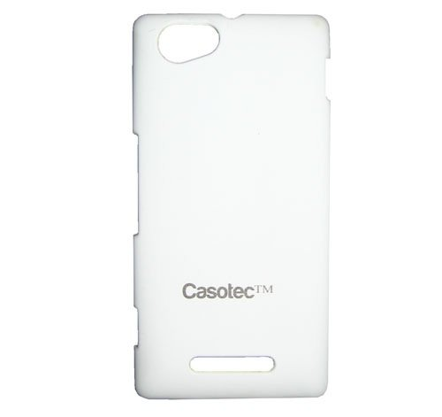 Casotec Ultra Slim Hard Shell Back Case Cover for Sony Xperia M - White  available at amazon for Rs.175