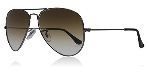 Ray-Ban Aviator Metal Frame Light Brown Gradient Lens Sunglasses Rb3025