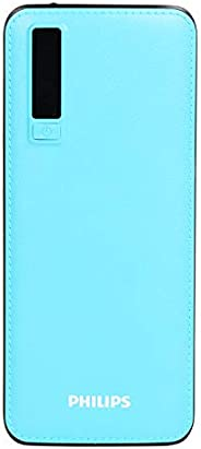 Philips DLP6006U 11000mAh Power Bank (Fast Charging, 10 W) (Brown,Lithium-ion) Blue