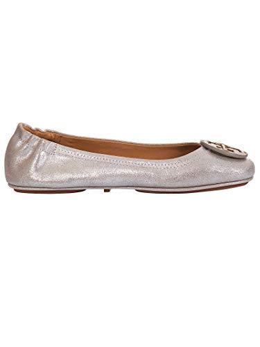 Tory Burch Damen 53289262 Silber Leder Ballerinas