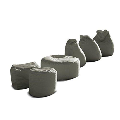 Pouf-poltrona-sacco-grande-BAG-XXL-Jive-tessuto-tecnico-antistrappo-beige-imbottito-Avalon