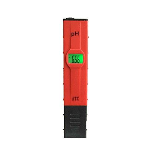 Lorsoul Tragbares pH-Messgerät, Stift Hohe Genauigkeit Digital-pH-Meter, mit ATC und Backlit LCD PH Test Kit, für Wasser Aquarium Pool