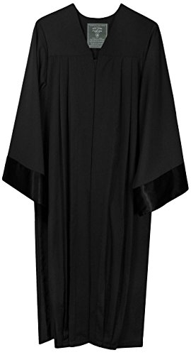 Robe schwarz Amtstracht Richter Anwalt Professor Jurist Talar Kostüm Karneval (100 % Polyester Viskose, 153-159)