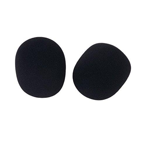 Sonline 2 PC Microfono del estudio de micro espuma protectora de la cubierta Negro