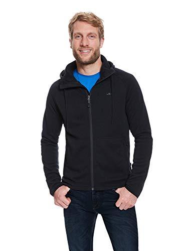 Jeff Green Herren Midlayer Schnelltrocknende Strick Fleece Jacke Nate, Größe - Herren:50, Farbe:Black