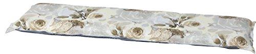 Madison 7BAN6-F075 Gartenbank, 2-Sitzer Rozen, 120 x 48 cm, Baumwolle / Polyester, Blumendesign in taupe