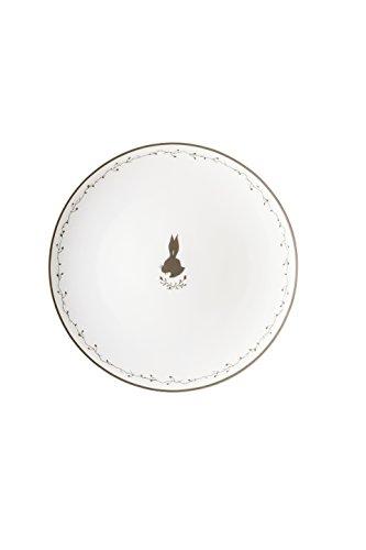 Hutschenreuther Assiette Lapin/Ø 22 cm, Porcelaine, Blanc, 22 x 22 x 3 cm