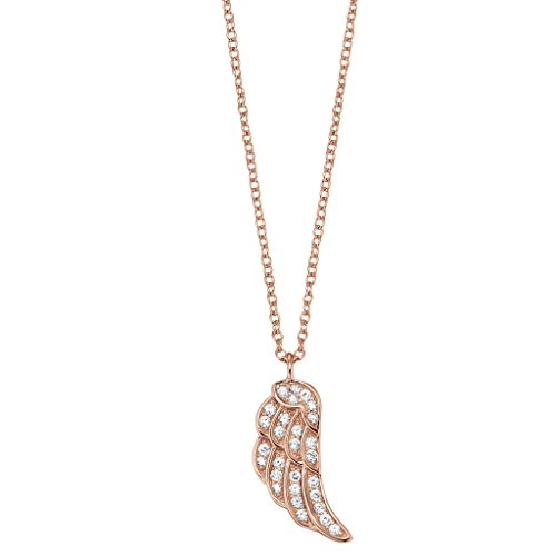 Engelsrufer Women's 925 Sterling Silver Rose Gold Plated Anchor Chain Necklace