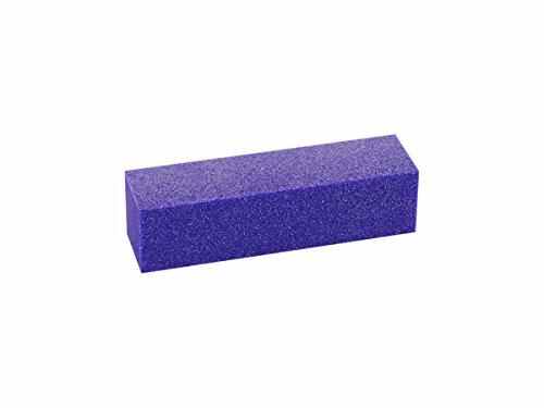 N&BF Buffer Nagelfeile 10er Set Lila | Vierseitiger Schleifblock im Sparset | Feine Körnung (100/100) | Polierblock für Naturnägel, Gel und Acryl Modellagen | Zum Anrauen & Feinarbeiten -
