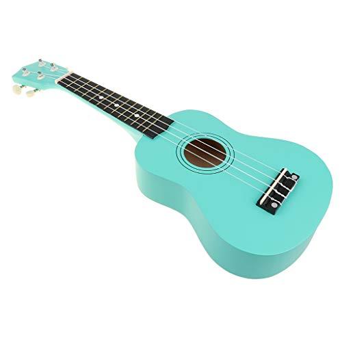 B Blesiya Mini Ukulele Sopran Hawaii Gitarre Musik Spielzeug mit 4 Saiten, Geschenk für Kinder und Freunde - Türkis