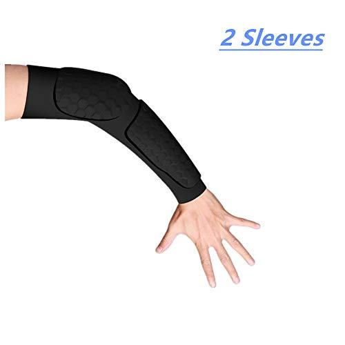 DA BODAN Armstulpen Hand Arm Ellenbogenmanschette für Männer Frauen Jugend Armstütze für Radfahren Baseball Basketball Sport Tattoo Cover Arm Kompression Armmanschette (2 Ärmel) (Schwarz, Medium)