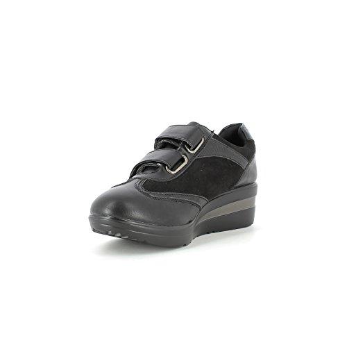 Scarpe moda donna chiusura velcro e suola in gomma fg69138-i17 Nero