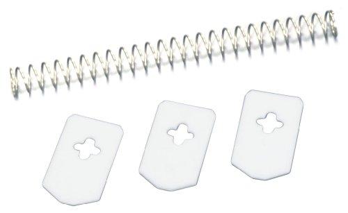 Leifheit  37202 Languettes et 1 Ressort de rechange pour Cherrymat Métal Blanc/Argent 12,6 x 1 x 1 cm