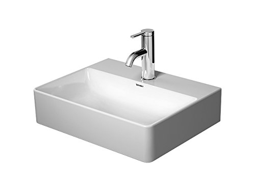 Duravit–Lavabo DuraSec asquare 450mm sin rebosadero lijada, color blanco, 0732450071