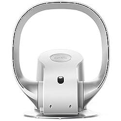 Carkiien Ventilateur Silencieux de Table sans Pale avec Telecommande, Oscillant, Type Mural, 8 Vitesses, 26W