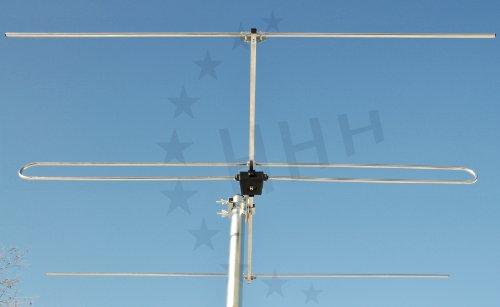 3H-FM-3 - 3 Elemente Yagi UKW / FM Antenne mit F-Anschluss für horizontale oder vertikale Außen- oder Unterdachmontage