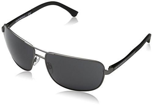 Emporio Armani Unisex 313087 Sonnenbrille, Schwarz (Gunmetal Rubber, X-Large (Herstellergröße: 64)
