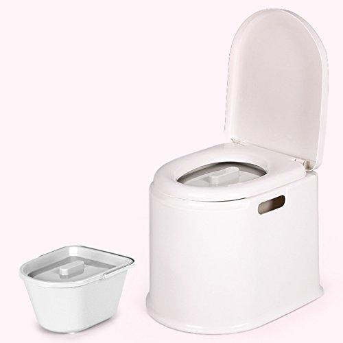 LI JING SHOP - Portable Toilettenstuhl Alter Mann mit schwangeren Frauen Kind beweglichen Kunststoff Nehmen Sie einen Hocker ( Farbe : Weiß , größe : #-001 )