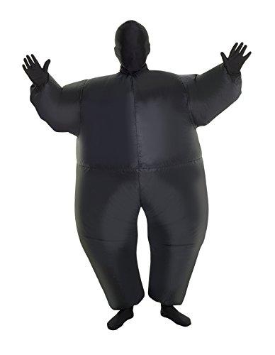 Morphsuits nero Megamorph gonfiabile Kids costume–Taglia unica