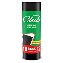 Sanita Club Garbage Bag Biodegradable 70 Gallons 10 Bags (Black)