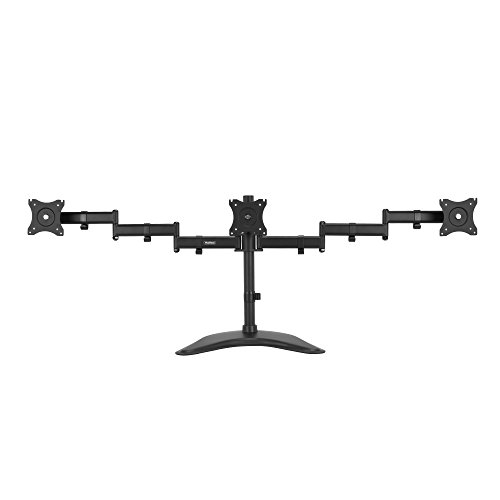 VonHaus Fully Adjustable Triple Three Arm LCD LED Monitor Desk Mount Bracket Stand For 13-27