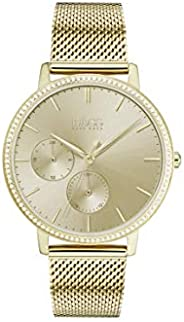 Hugo Boss Womens Quartz Watch, Analog Display and Stainless Steel Strap 1502520