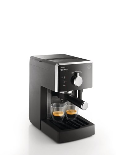 Saeco Poemia – coffee makers (freestanding, Ground coffee, Manual, Espresso, Black, Plastic)