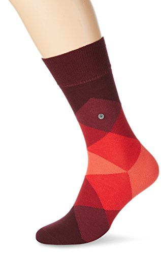 Burlington Herren Socken Clyde Rot (claret 8375)