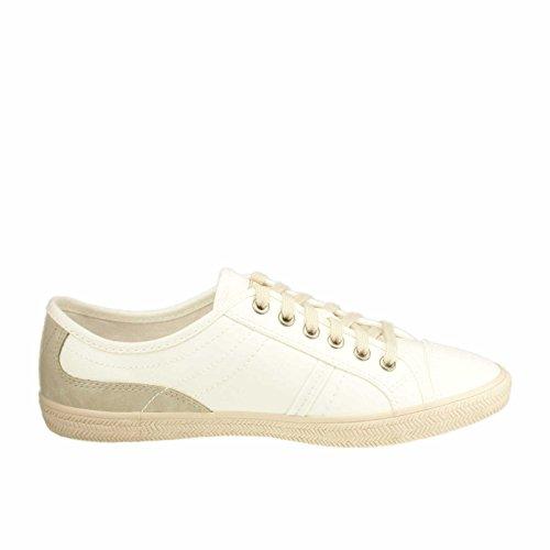 ESPRIT 016EK1W001-100 Megan Lace Up, Sneaker donna Blu blu Bianco (Weiß Kombi)