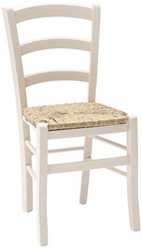 Fashion commerce 02-fc310bi set di sedie, legno, bianco, 42x43x88 cm, 2 unità