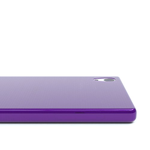 """EAZY CASE Handyhülle für Sony Xperia Z5 Hülle - Premium Handy Schutzhülle Slimcover """"Brushed"""" Aluminium Design - TPU Silikon Backcover in brushed Rosa Brushed Lila"""