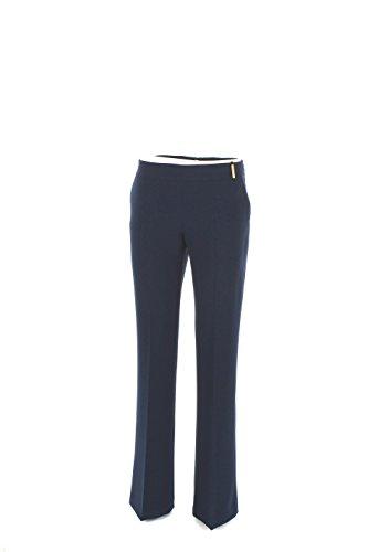 Pantalone Donna Elisabetta Franchi 40 Blu Pa9133236 Autunno Inverno 2016/17