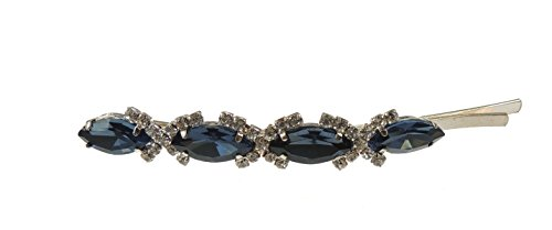 Ladies Extra Sparkly Oval Crystal Luxury Hair 9cm Grip Clip Royal Blue by Glamour Girlz - Royal Grip