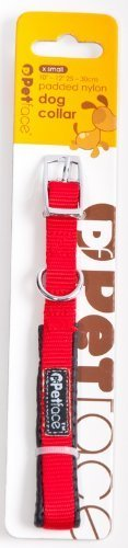 Red-Padded-Nylon-Dog-Collar-Extra-Small