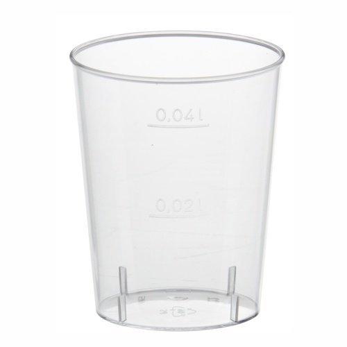 50 Gläser für Schnaps, PS 2 cl bis 4 cl Ø 3,8 cm · 4,2 cm glasklar Plastik Schnapsstamperl, Stamperl Schnapsglas