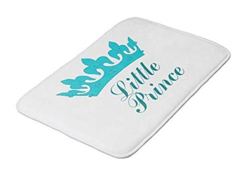 LIS HOME Badteppichmatte, besonders weiche und saugfähige Teppiche, Maschinenwäsche / -trocknung, Fußmatten für Badewanne, Dusche und Bad Little Prince a Royal Baby Nursery Badematte