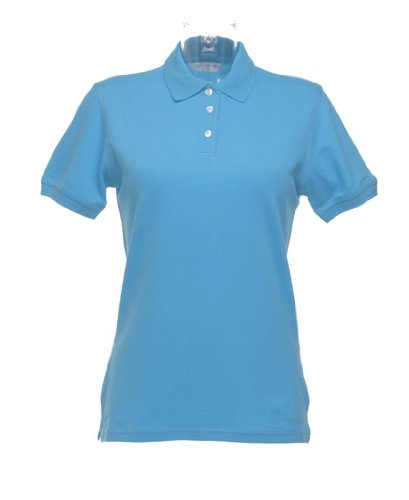 Damen Kate Comfortec® Polo Blau - Aqua