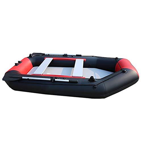 Dmbhw addensare canotto gonfiabile 2.7m professione rafting all'aperto resiste a 441kg scialuppa di salvataggio gommone marine materiale in pvc con oars corda e pompa d'aria,red