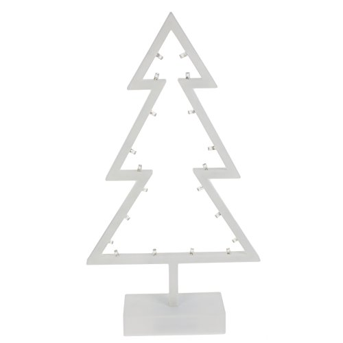 Smartfox LED Dekoleuchte Weihnachtsbaum Lampe Tisch Leuchte Weihnachten batteriebetrieben - warmweiß