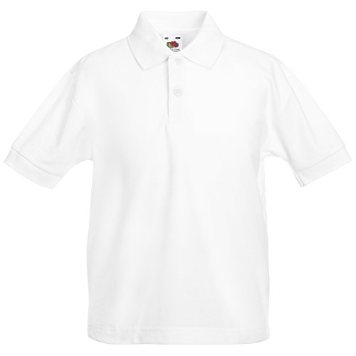 Fruit of the Loom Kids 65/35 pique polo White