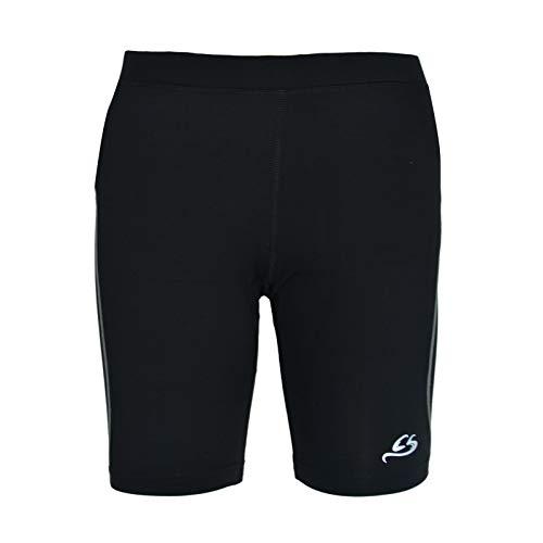 Cox Swain Damen Laufhose kurz C35 mit Kompressionswirkung und Quick-Dry-Funktion, Colour: Black/Grey, Size: S